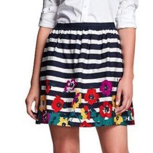 Banana Republic Striped Floral Skirt